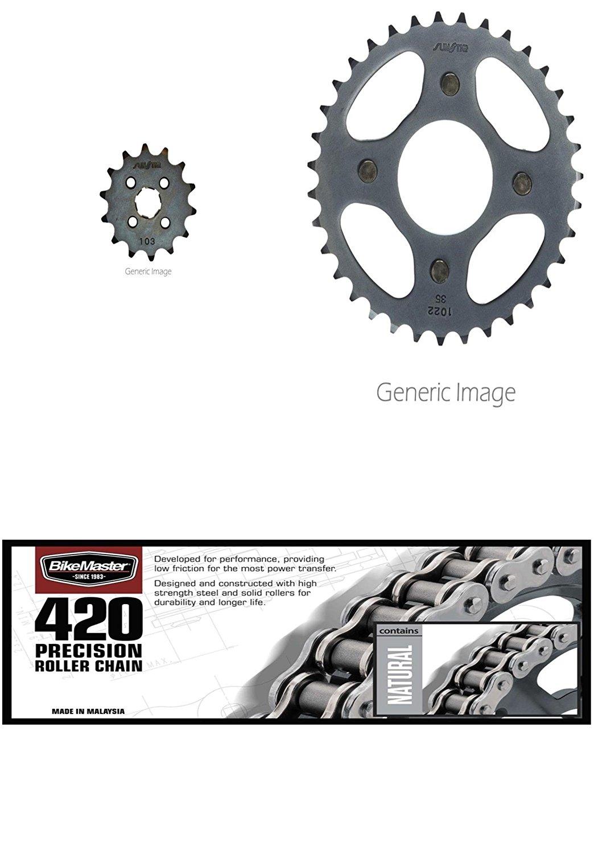 520 Standard Chain Natural,Front /& Rear Sprocket Kit for HONDA ATC200X 1986-1987