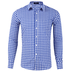 Stock Wholesale Men's Classic Dress Shirt Casual Shirt for Men Long Sleeve Plaid Cotton Shirts