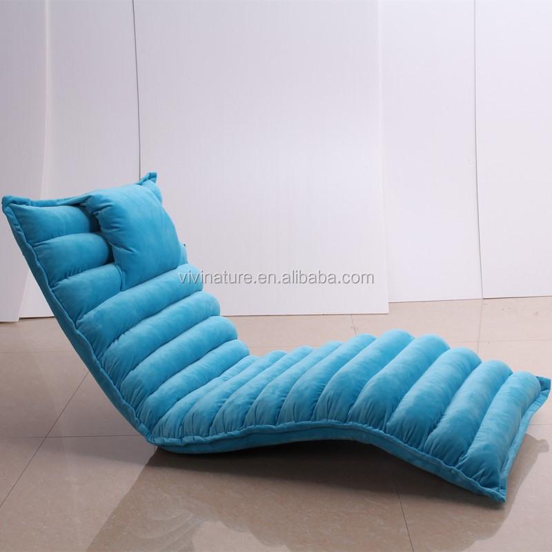 Fashion Fabric 5 Grades Single Sofa Chair Portable Legless Folding Leisure Modern