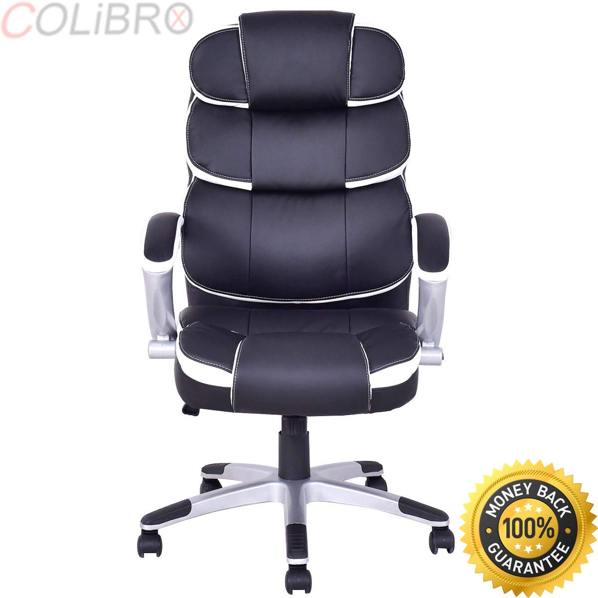 COLIBROX--New Ergonomic PU Leather High Back Executive Computer Desk Task Office Chair. bestoffice ergonomic pu leather high back office chair. high back computer chair. office chairs on sale amazon.
