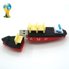 Shipping Container Boat Shape Cheap 1gb Cartoon Usb Flash Drive Pvc
