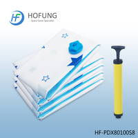 Vacuum storage space saving bag