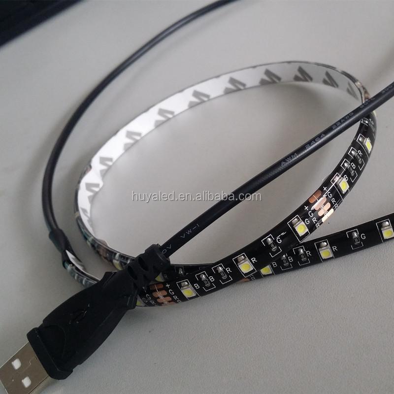black fpcb 60leds SMD 3528 Flexible 5V USB LED Strip Light IP65 waterproof