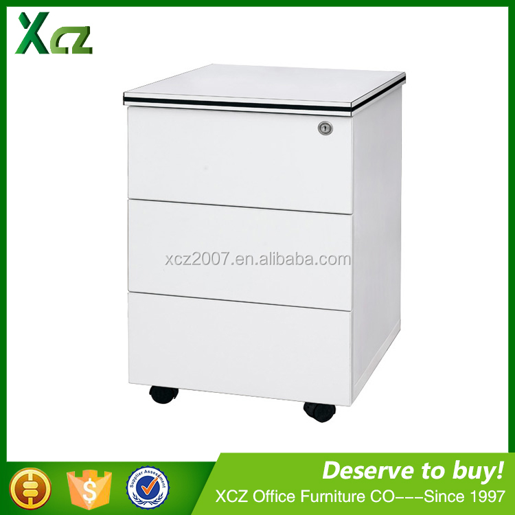 Professional design wooden office cabinet 3-drawers mobile pedestal