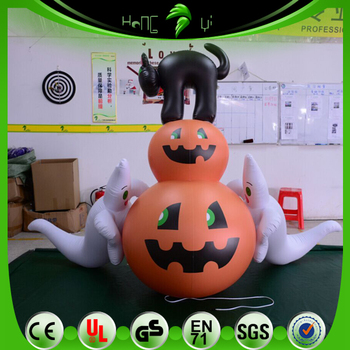 Crazy Decoration Inflatable Pumpkin Ghost Black Cat Model Festival Scary Inflatables
