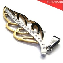 Fibo Stainless steel designed imitation 24k gold leaf jewelry