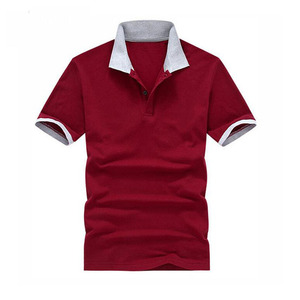 Mens 100% Cotton Polo Shirts with popular Logos Custom pk polo t-shirt