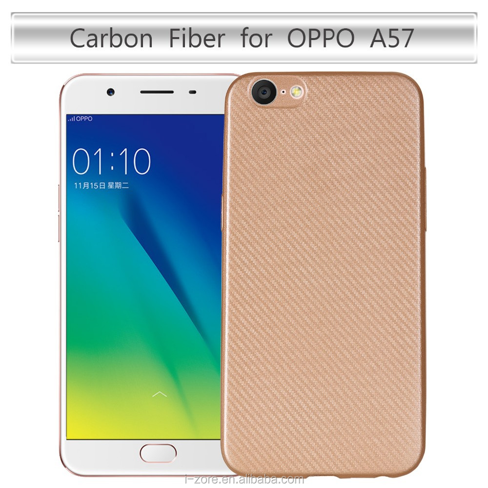 Carbon Fiber Phone Case Cover For Oppo A57 Back Tpu Slim Soft