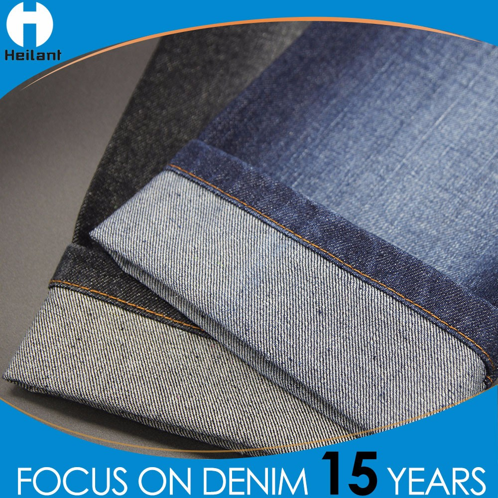 CE certificate 4 way stretch polyester spandex lycra cotton denim fabric for jeans