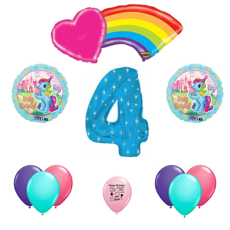 My Little Pony 4th Fourth Birthday Balloon Bouquet