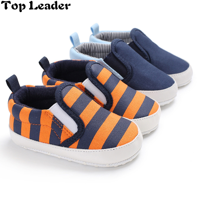 Op 지도자 2018 Brand New 유아 유아 Baby Shoes Soft Soled 캐주얼 침대 Shoes Prewalker Striped Patchwork Shoes