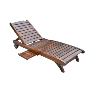 Outdoor furniture pool hotel beach sun lounger wooden folding bed