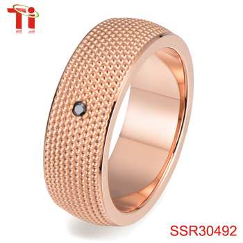 2018 new design of rings jewelry women rose gold jewelry cnc jewelry
