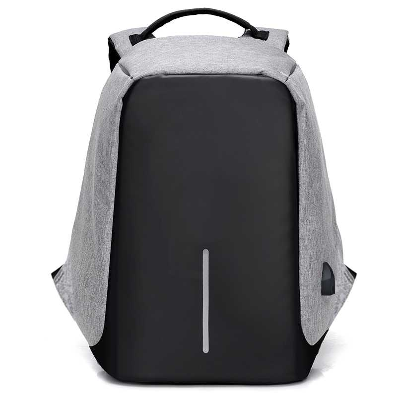 men laptop bag nylon business USB rechargeable waterproof anti theft laptop backpack
