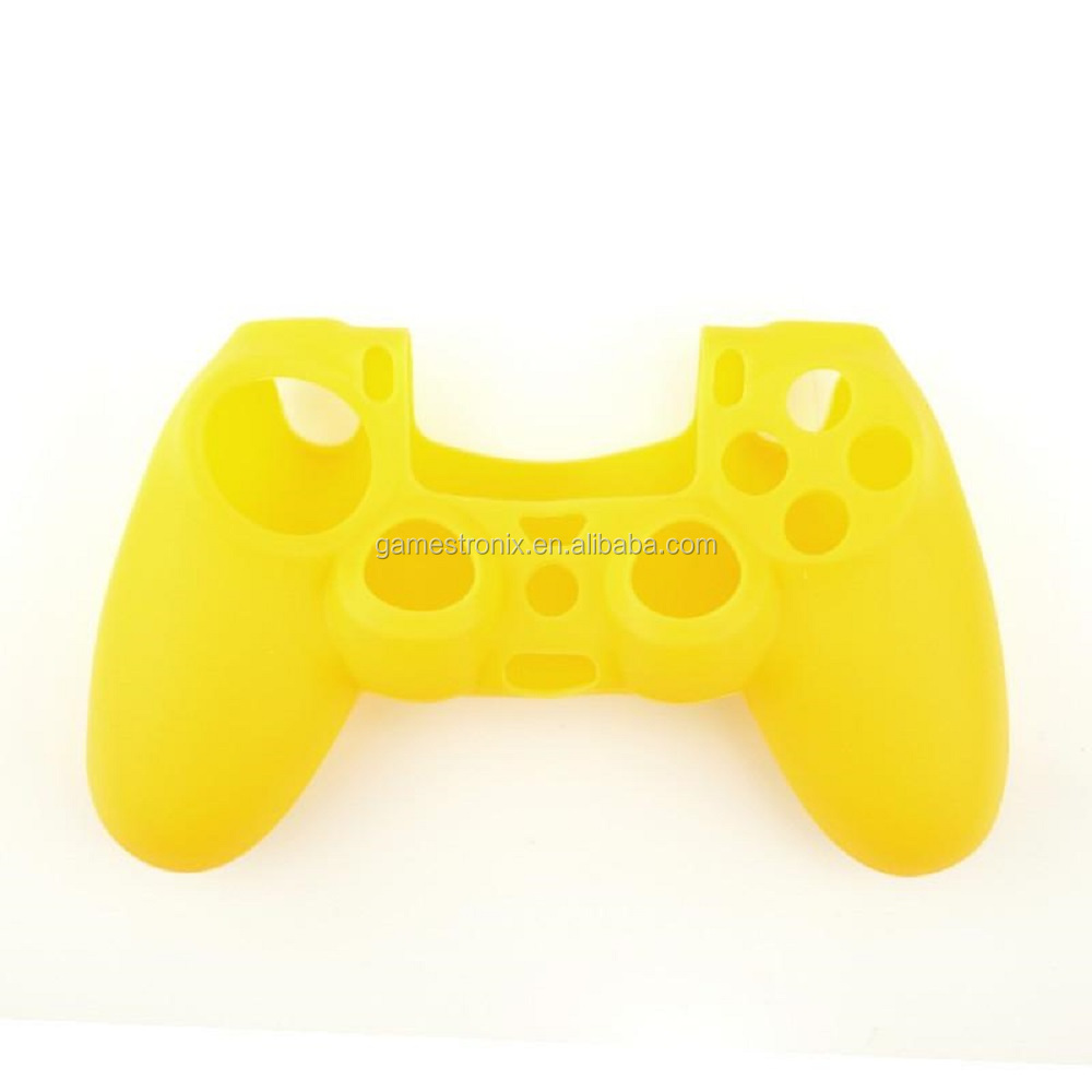Silicone Soft Skin Cover Case for Sony Playstation 4 PS4 Controller - Yellow