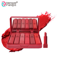 ) 저 (Low) MOQ 핫 style 싼 bright color best 유기 matte effect magic 6 color mini <span class=keywords><strong>립스틱</strong></span> set