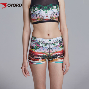Dye Sublimation Digital Print Women Sexy Breathable Yoga Set Active Wear