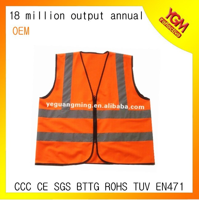 different colors reflective jogging vest