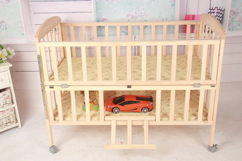 Super calidad de la cama para bebés, ajustable, movible, de madera ...
