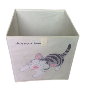 Non-woven fabric printing storge cardboard organize collapsible storage bin