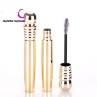 hot sale Custom empty gold mascara tube wholesale plastic cosmetics packing tube for eyelash make up
