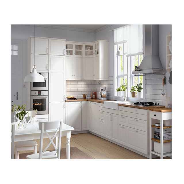 High End Solid Wood Kitchen Cabinet With Cooking Top And Microwave In  Guangzhou - Buy High End Kitchen Cabinet,Solid Wood Kitchen Cabinet,Kitchen  With ...