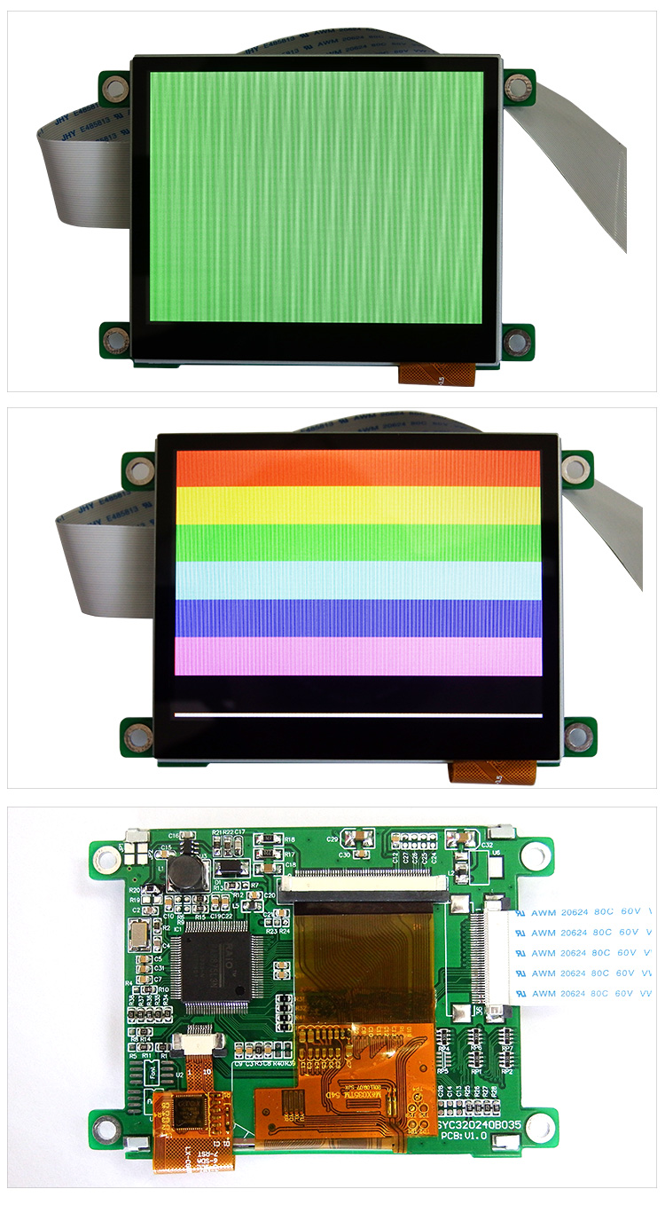 TCC LCD 3.5 tft 320x240 lcd display module RA8875 controller 36-pin lcd 320*240 65K color capacitive touch screen