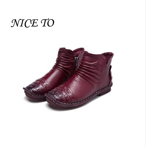 Real Leather Fall 2018 New Girls Boots Casual Shoes Autumn Boots Children Flat Soft Bottom Winter Shoes