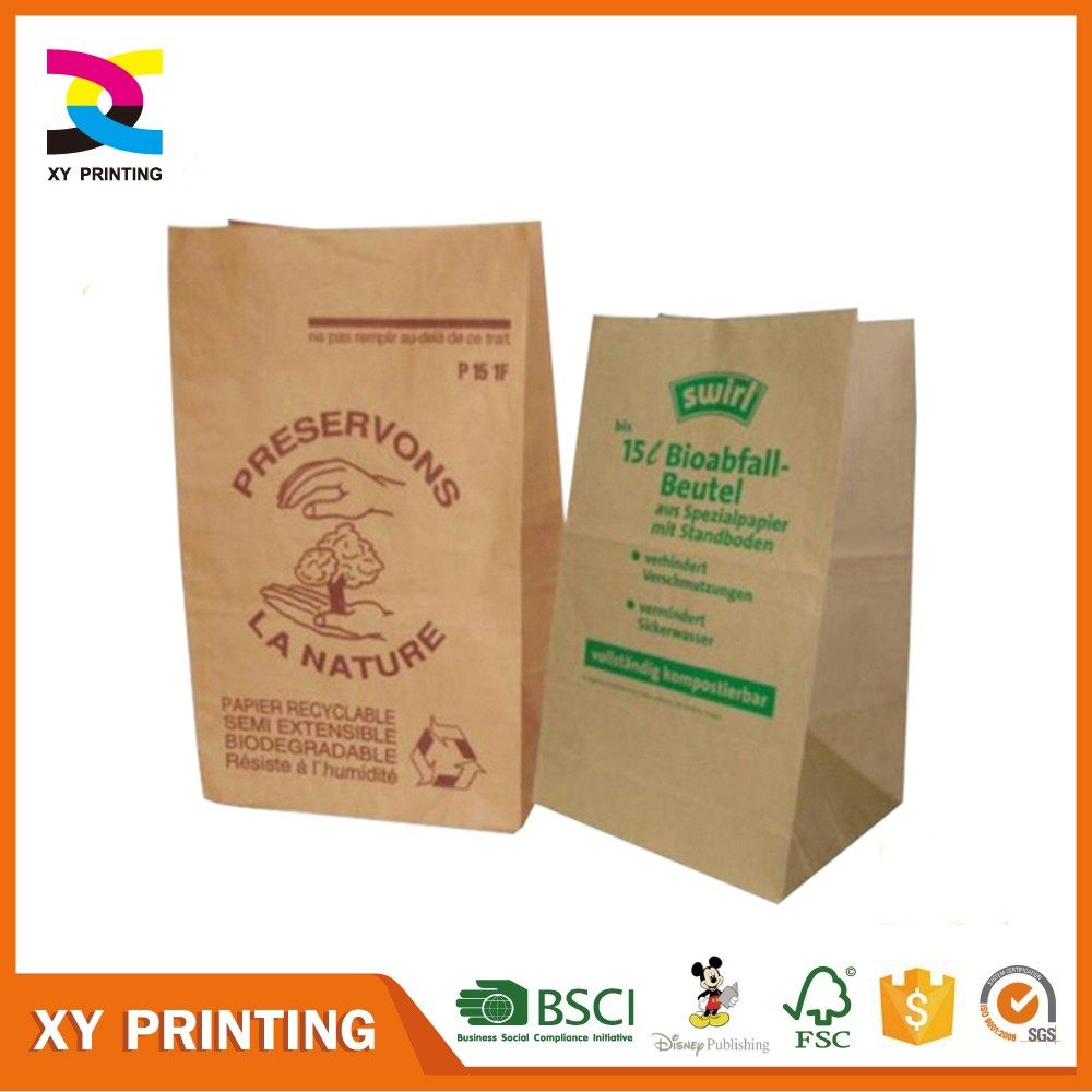 Fsc Kraft Paper Grocery Bag