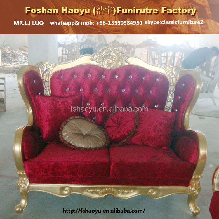 muebles de lujo italiano sof clsico de madera al por mayor boda conjunto de