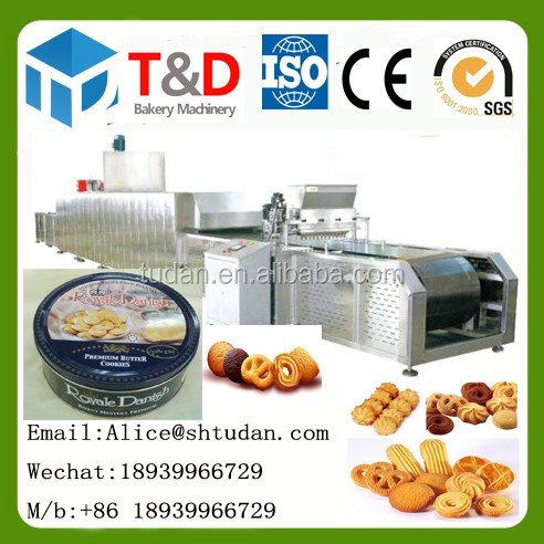 Shanghai tudan international trading Co.,Ltd Full auto fruit jam filling cookies making machine cookies production line