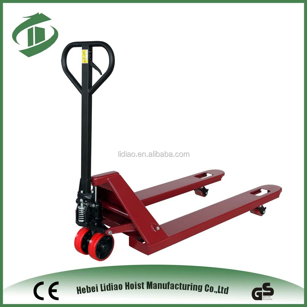 2500kg hydraulic hand pallet jack with Nylon/PU/Rubber wheel