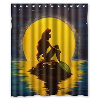 Get Quotations Disney Little Mermaid Cartoon Custom Shower Curtain 60