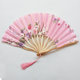 [I AM YOUR FANS]Sufficient stock! Newest style Silk hand fan 16colors for choice Dragon hand fan S shape hand fan