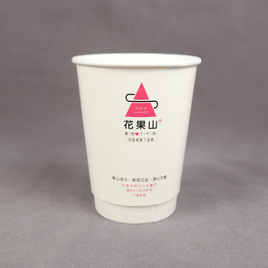 16oz 22oz disposable ripple base paper roll for paper cup double ripple wall beer paper cup manufacturer