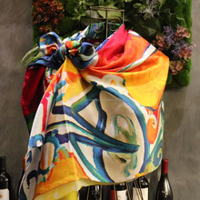 special custom latest 100% silk square kerchief scarf