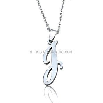 Stainless steel initial letters pendant necklacebeautiful alphabet stainless steel initial letters pendant necklacebeautiful alphabet necklace for men women aloadofball Gallery