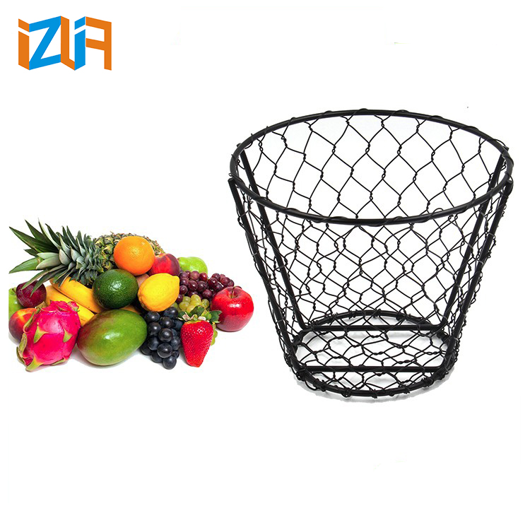Black Metal Wire Basket, Black Metal Wire Basket Suppliers And  Manufacturers At Alibaba.com