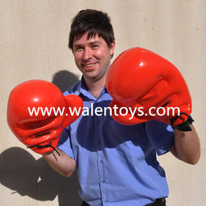 Inflatable Blowup RED BOXING GLOVE /plastic boxing gloves