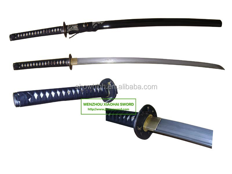 high quality damascus steel high carbon steel handmade katana samurai sword HK052