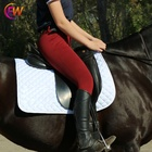Horse Breeches EW Horse Full Seat Silicone Red Color Horse Riding Breeches For Winter Riding