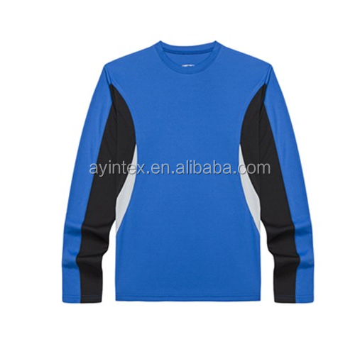 OEM customized 100% polyester interlock long sleeve T-shirt