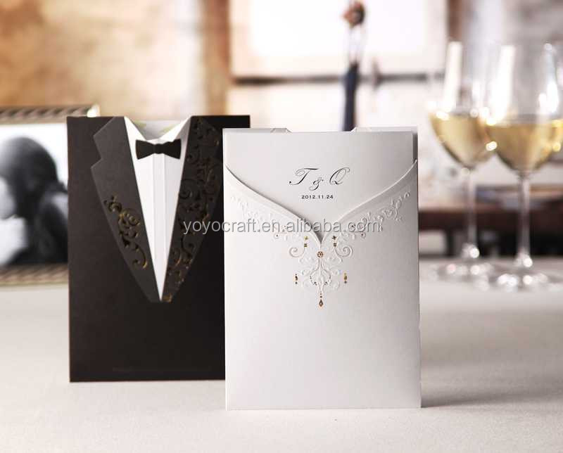 Wishmade wedding suit design wedding invitation card