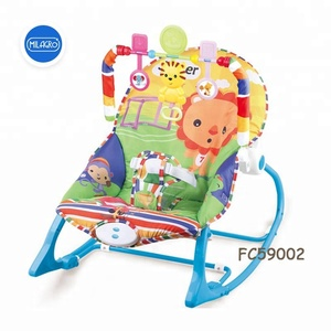 Plastic seesaw lion animal print Infant to toddler vibrating electric music rocker