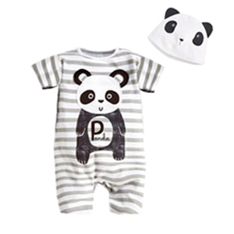 Summer Baby Rompers Cotton Short Sleeve Animal Infant Boys Girls Clothing Sets Ropa Bebes Children Jumpsuits Newborn Baby Romper
