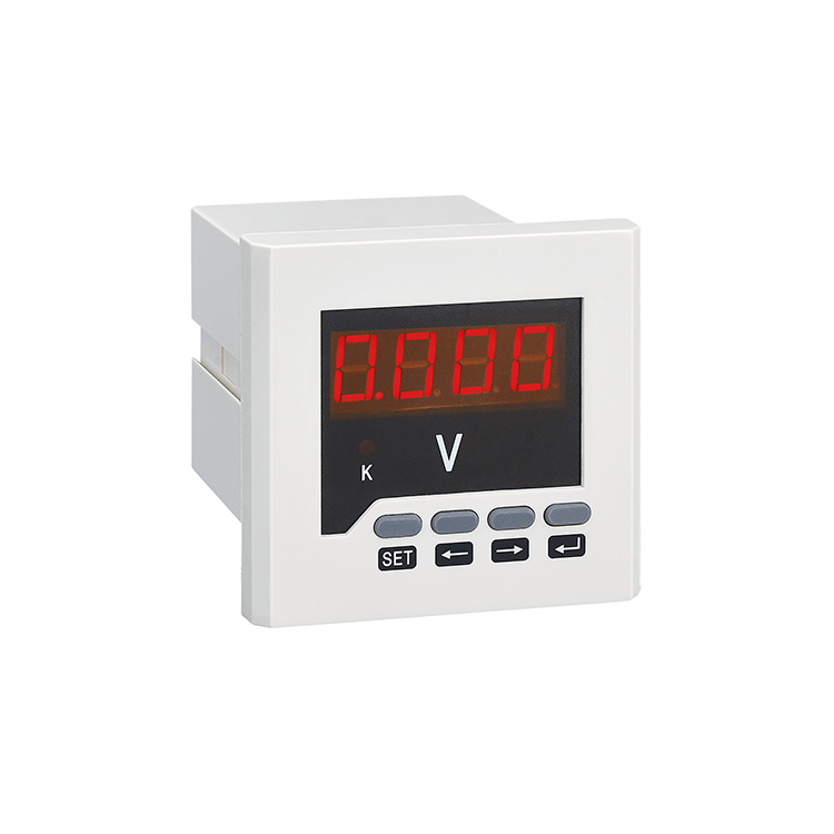 Flush Mounted Digital One Phase AC Voltmeter Electronic Voltage Meter