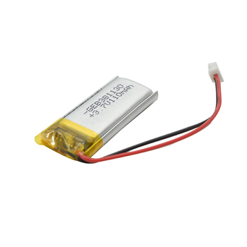 Rechargeable 3.7v small lithium polymer battery 110mah for led light