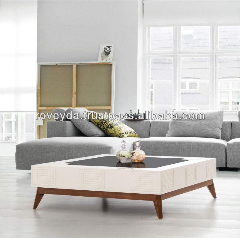 Monza Wooden Coffee Table Buy Modern Cream Colored Coffee