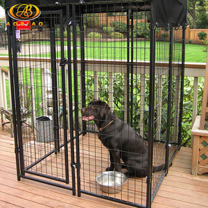 Digital galvanized dog run cage enclosure