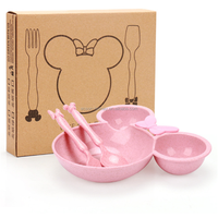 Eco Friendly 3Piece Children's Dinnerware Baby Girl Birthday Great Gifts